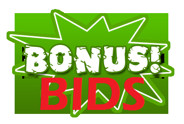 Bonus Bids: If the NEXT Bids Wins, this previous bidder will win the stated Bids Bonus!